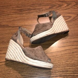 Tan Torrid Espadrilles Wedges with Ankle Strap